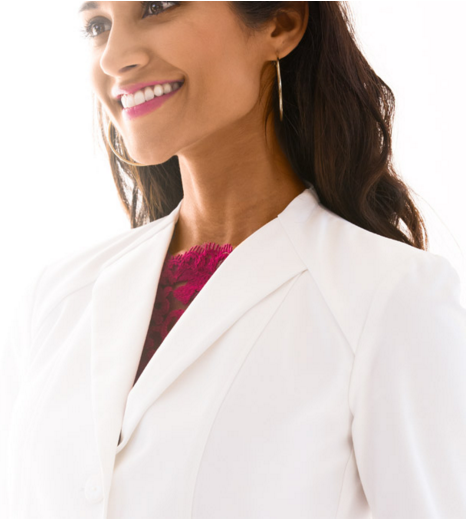 Lab Coat envelope collar