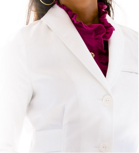 Lab Coat shawl collar