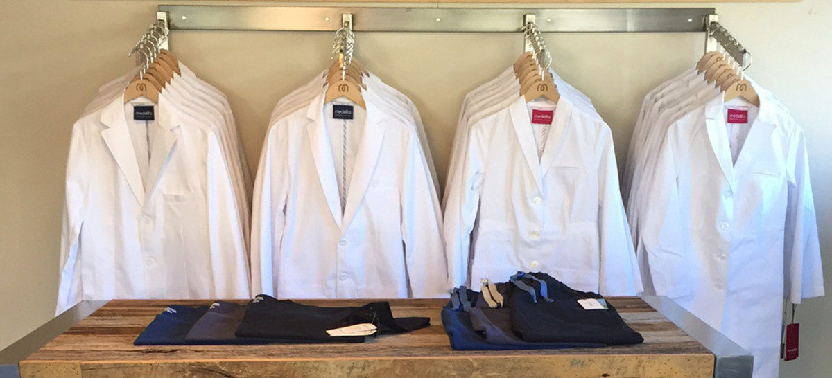Lab Coats on Hangers