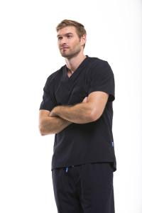 Men's Modern Fit Scrubs in Black