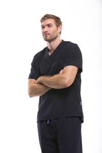 Men's Modern Fit Scrubs in Black