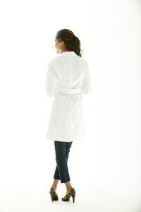 Back Belt Lab Coat For Women