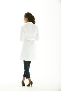 Back Belt Lab Coat For Women
