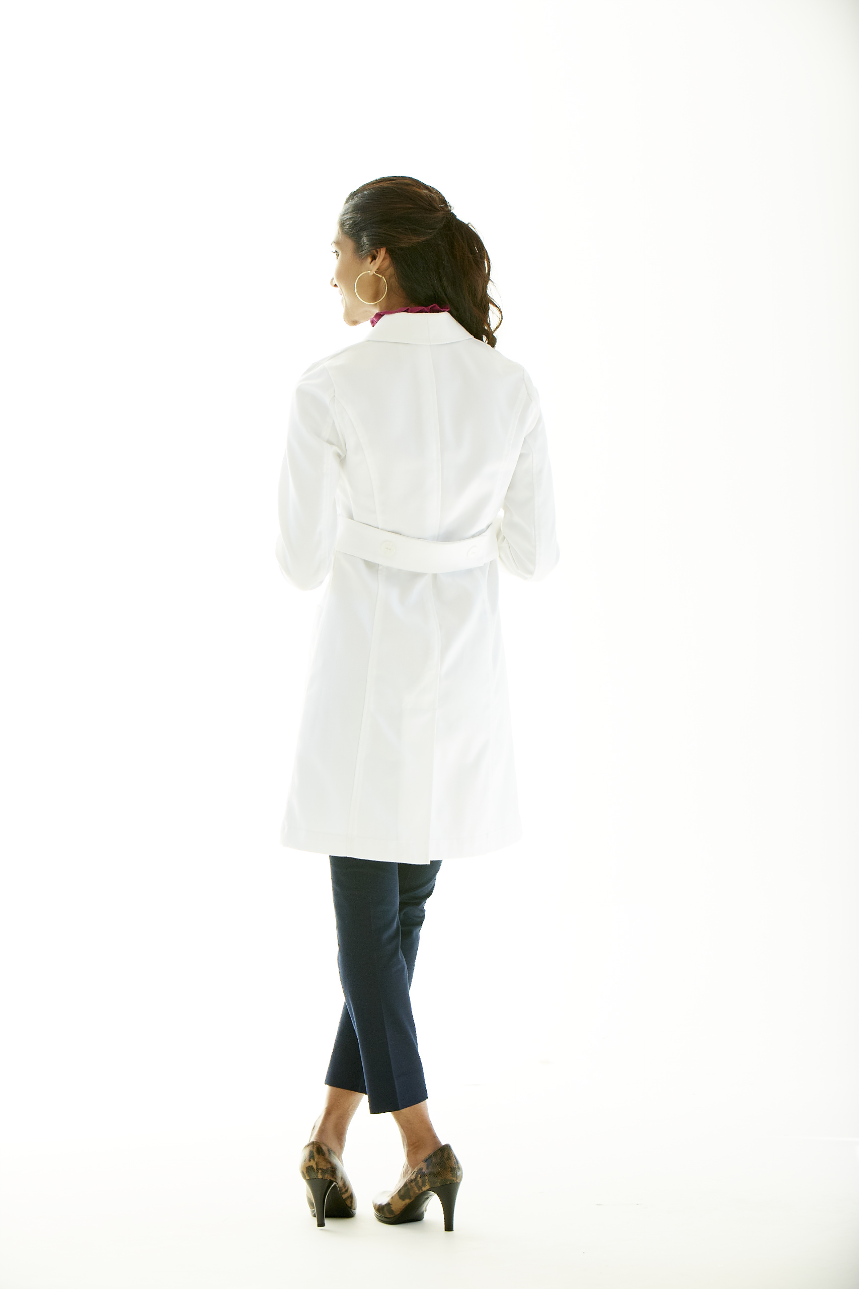 Contemporary lab coats scrubsandlabcoats back belt lab coat for women jeuxipadfo Gallery