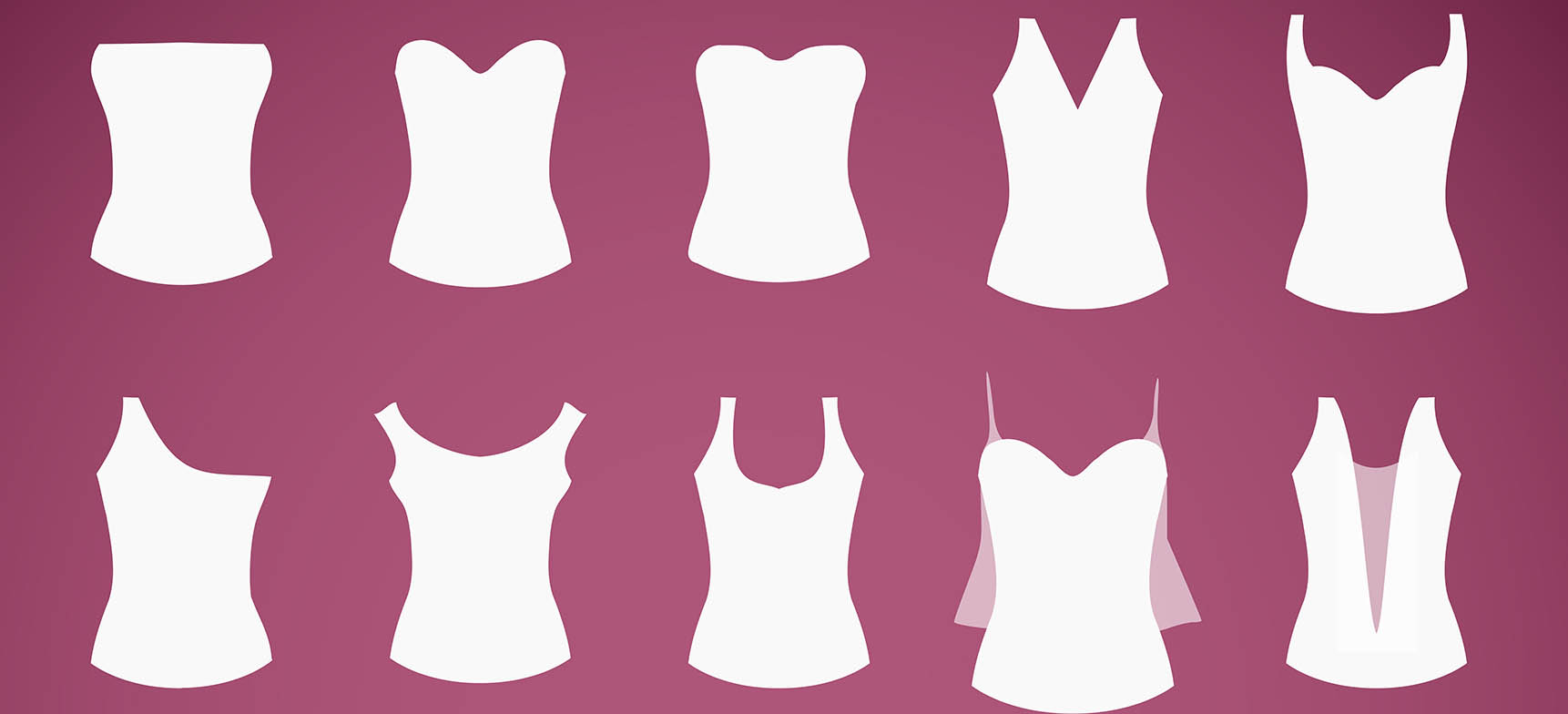 Types Of Lines In Fashion Designing : Most popular necklines for women