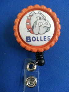 School spirit retractable badge holder