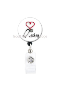 Retractable ID Badge Personalized Nursing