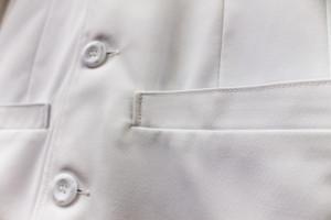 Reinforced Pocket Seams Lab Coat
