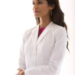 Envelope Collar on Lab Coat