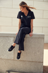 Stylish Black Scrubs for Women