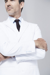 Bernard lab coat with foldable sleeves