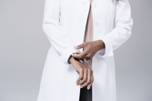 roll up sleeves lab coat
