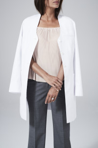 slim fit lab coat for women