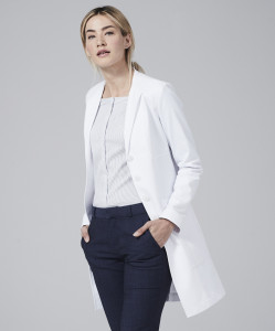 vera slim fit lab coat for women