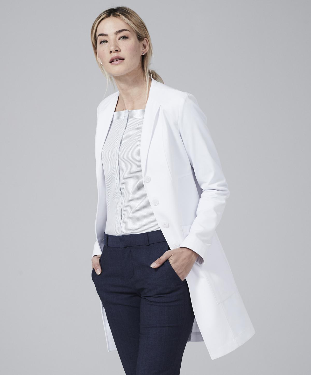 2b7a35348ca vera slim fit lab coat for women